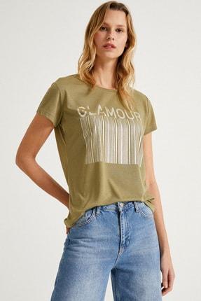 Koton Kadın Haki T-Shirt 1Yak13920Ek 1