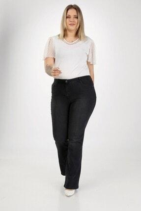 E Collection Ispanyol Paça Likralı Büyük Beden Jeans Pantolon 2
