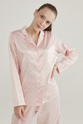 Penti Pembe Saten Hearts Pijama Takımı 2