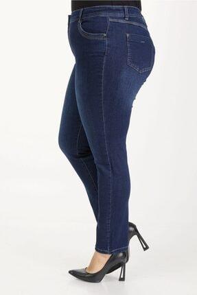 E Collection Büyük Beden Full Likralı Jeans Pantolon 4