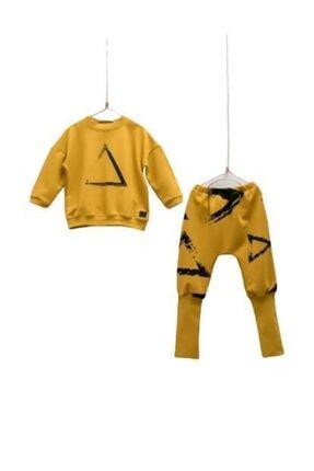 Moi Noi Moinoi Uzun Manşetli Bebe Takım 50041-sarı 1