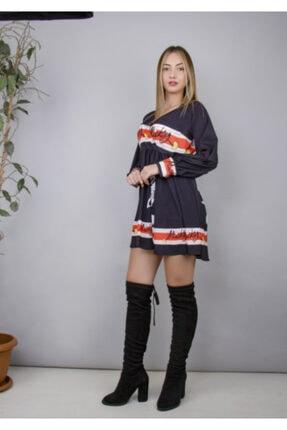 Kadın Detaylı Diz Üstü Elbise elbise3