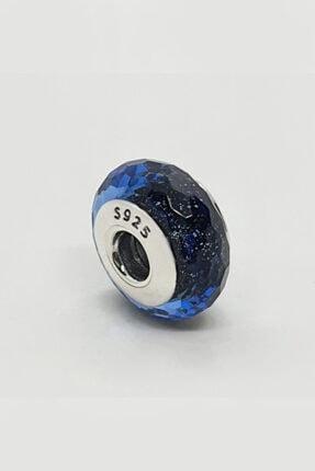 Triaboz Kadın Mavi Pandora Bileklik Uyumlu Cam Charm 0
