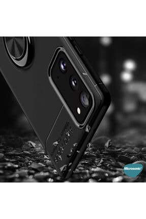 Samsung Microsonic Galaxy S20 Fe Kılıf Kickstand Ring Holder Kırmızı 2