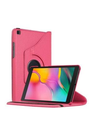 "Samsung Microsonic Galaxy Tab A 8"" 2019 T290 Kılıf 360 Rotating Stand Deri Pembe 0"