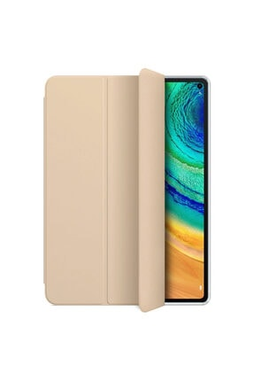 Huawei Microsonic Matepad Pro 10.8'' Kılıf Slim Translucent Back Smart Cover Gold 1
