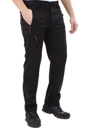 Ghassy Co Erkek Tactical Outdoor Su Geçirmez Siyah Softshell Pantolon 3
