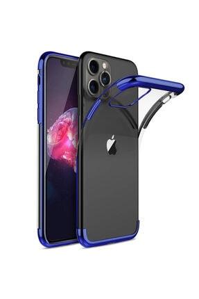 Apple Microsonic Iphone 11 Pro Max (6.5'') Kılıf Skyfall Transparent Clear Mavi 0