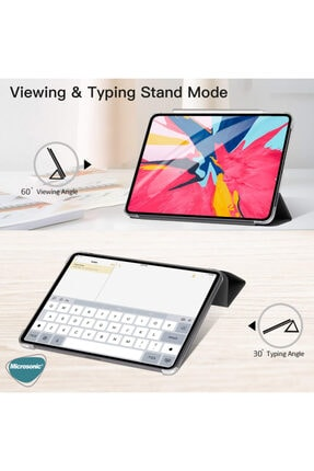 Apple Microsonic Ipad Pro 11'' 2020 2. Nesil Kılıf (a2228-a2068-a2230) Smart Case Ve Arka Kapak Mor 2