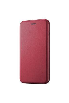 Samsung Microsonic Galaxy A31 Kılıf Ultra Slim Leather Design Flip Cover Bordo 1