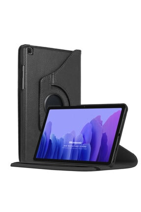 Samsung Microsonic Galaxy Tab A7 T500 Kılıf 360 Rotating Stand Deri Siyah 0