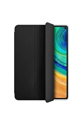 Huawei Microsonic Matepad Pro 10.8'' Kılıf Slim Translucent Back Smart Cover Siyah 1