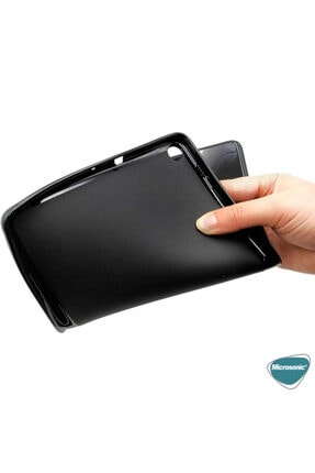"Samsung Microsonic Galaxy Tab A 8"" 2019 T290 Kılıf Glossy Soft Siyah 4"