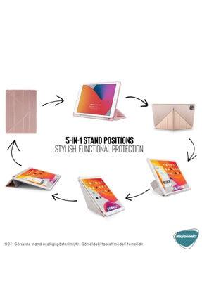 "Samsung Microsonic Galaxy Tab S6 Lite 10.4"" P610 Kılıf Origami Pencil Rose Gold 4"