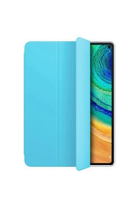 Huawei Microsonic Matepad Pro 10.8'' Kılıf Slim Translucent Back Smart Cover Mavi 1