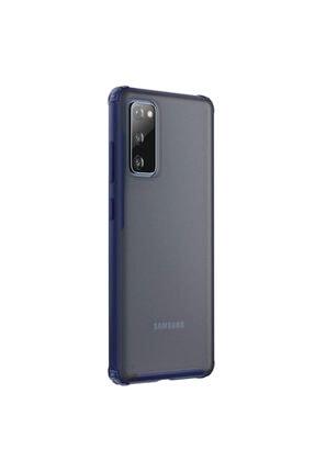 Samsung Microsonic Galaxy S20 Fe Kılıf Frosted Frame Lacivert 1