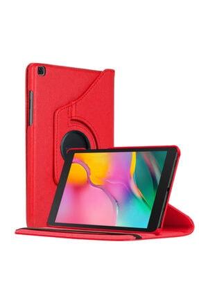 """Samsung Microsonic Galaxy Tab A 8"""" 2019 T290 Kılıf 360 Rotating Stand Deri Kırmızı 0"""
