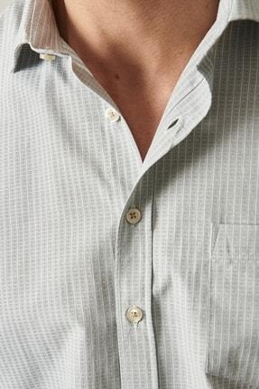 Altınyıldız Classics Erkek Haki Regular Fit Kısa Kollu Gömlek 3