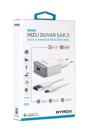 Syrox 3.0 Amper 12wolt Micro Hızlı Şarj Aleti 3.0 Amps 12wolt Micro Fast Charger 2