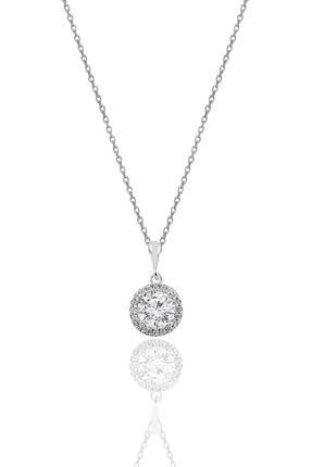 Söğütlü Silver Gümüş Zirkon Taşlı Yuvarlak Pırlanta Montürlü Gümüş Üçlü Set 2