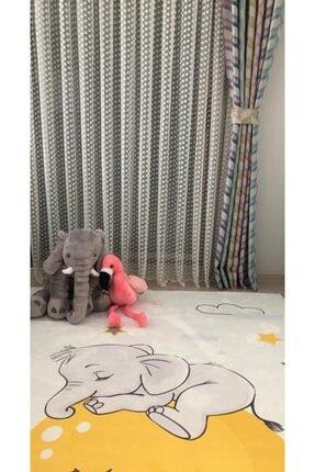 Perlingo Yıldız Desen Çocuk Odası Tül Perde 1/2 Pile Sıklığı 1