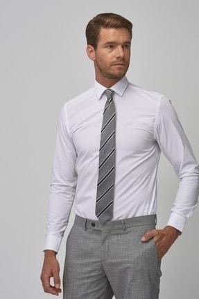 Altınyıldız Classics Erkek Beyaz Tailored Slim Fit Klasik Gömlek 0