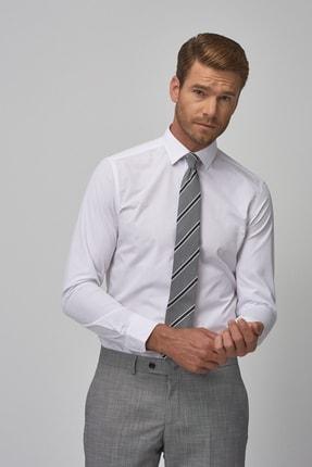 Altınyıldız Classics Erkek Beyaz Tailored Slim Fit Klasik Gömlek 2