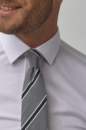 Altınyıldız Classics Erkek Beyaz Tailored Slim Fit Klasik Gömlek 4