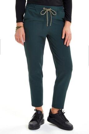 İkiler Beli Lastikli Kordonlu Cepli Pantolon 201-3520 0