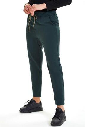 İkiler Beli Lastikli Kordonlu Cepli Pantolon 201-3520 2