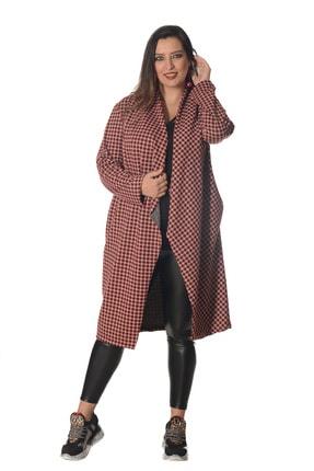 تصویر از ژاکت کش باف پشمی سایز بزرگ زنانه کد M9613