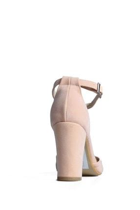 PUNTO Kadın Pembe Süet Topuklu Ayakkabı 3