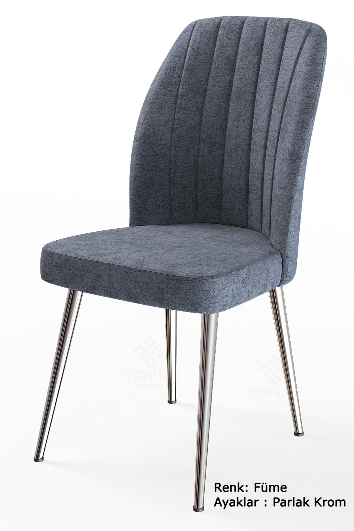 Platinum Serisi Geniş Oturum Alanlı 1.sınıf Sandalye Renk Füme Ayaklar Parlak Krom