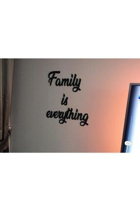 Yumak Dekor Grup Family Is Everything Ahşap Duvar Yazısı - Motto - Tablo 0