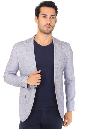 Lacivert Sivri Yaka Slim Fit Spor Ceket C151-02