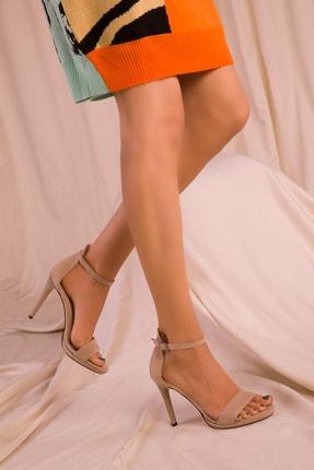 Soho Exclusive Ten Süet Kadın Klasik Topuklu Ayakkabı 14530 2