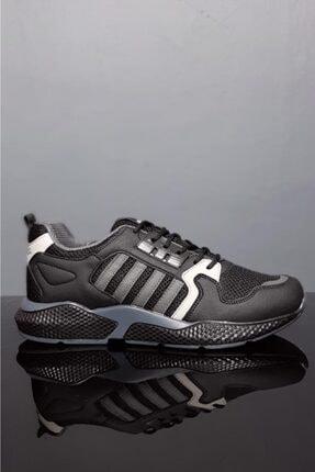 Moda Frato Unisex Siyah Gri Spor Ayakkabı Wn 4031x 0