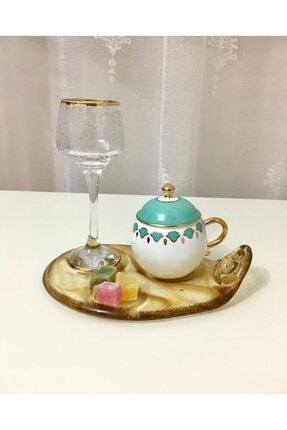 Tavcam Kahve Sunum Tabağı - Bal 1