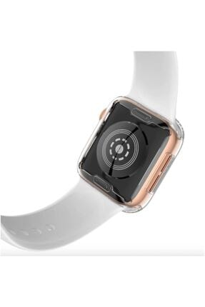 Gate Apple Watch 44 Mm Uyumlu Şeffaf Silikon Kılıf Iwatch 44mm Tam Koruma Koruyucu 1