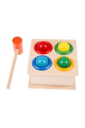 Wooden Toys Ahşap 4'lü Çekiçli Tak Çak Oyunu 0