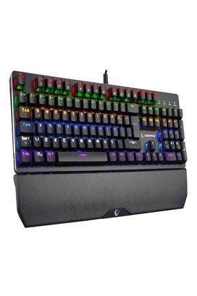 Rampage KB-R81 Mavi Switch Gökkuşağı Ledli RGB Şeritli Metal Yüzey Mekanik Gaming Oyuncu Klavye 3