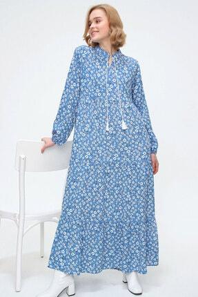 10313 Volanlı Tesettür Elbise resmi