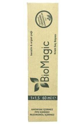 BioMagic Organik Amonyaksız Saç Boyası Kumral-7.00 Oksidan Hediye 2