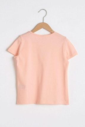 LC Waikiki Kız Çocuk Şeftali G6S T-Shirt 1