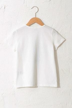 LC Waikiki Kız Çocuk Ekru Fdu T-Shirt 1