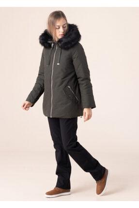 Vero Moda Kadın Haki Kapüşonlu Mont 10217159 1
