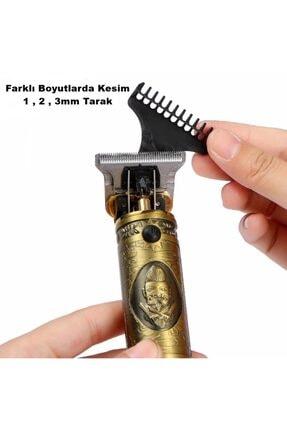 yopigo V-085 T-bıçak Komple Vucüt Kılı Traş Saç Ense Sakal Çizim Tıraş Makinesi Erkek Seti 2