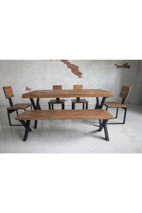 Deryawood Masif Mobilya Deryawood Masif Ağaç Yemek Masası 70*120*76 Cm 1