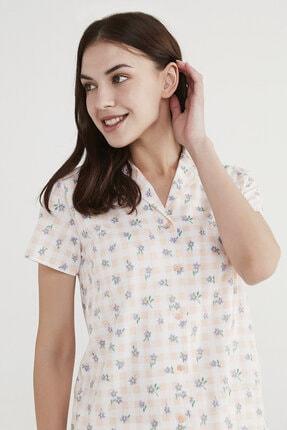 Penti Kadın Beyaz Çiçekli Pijama Takımı 2