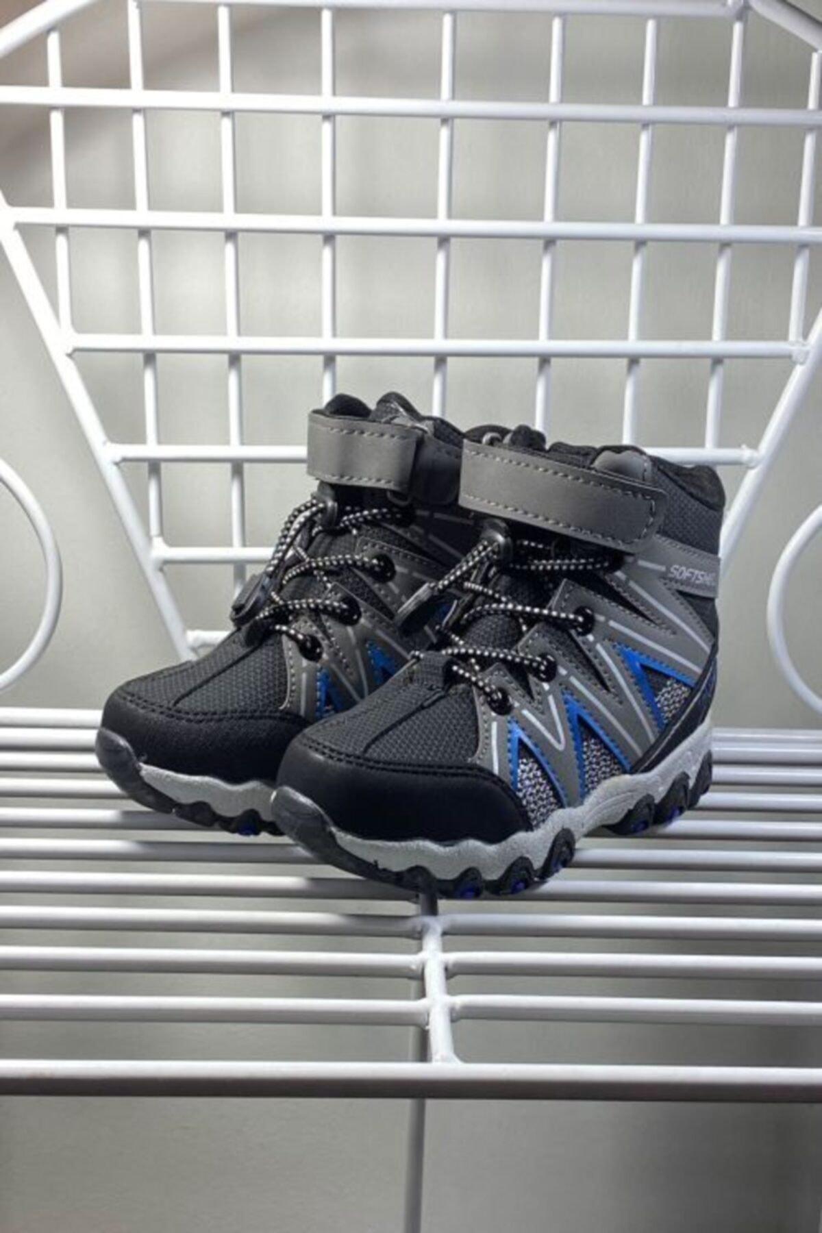 Kışlık Termo Taban Cırtlı Lastik Bağcıklı Çocuk Bot Ayakkabı